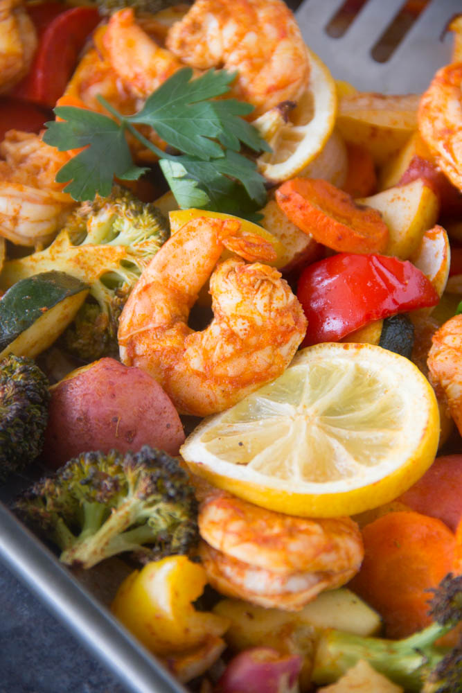 Sheet-Pan Roasted Shrimp and Vegetables | Say Grace